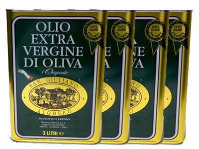 サンジュリアーノ EXV オリーブオイル 3L×4本 イタリア サルディーニャ州