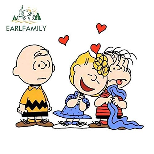 A/X Autoaufkleber 13 cm x 10,5 cm Charlie Brown Sally Brown Linus Van Pelt Vinyl Autoverpackung Autoaufkleber Wasserdichter komischer Aufkleber