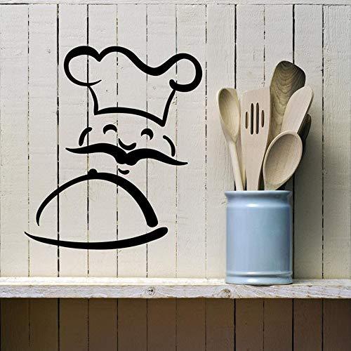 Yaonuli Chef Verdeling Muurtattoo's afneembare muurkunst sticker keuken decoratie leuke sticker huisvrouw hoofddecoratie