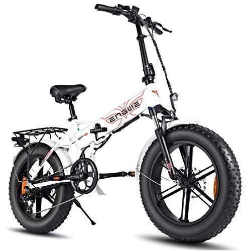 ENGWE EP-2 Pro - Bicicleta de montaña plegable (750 W, 20 pulgadas), color blanco