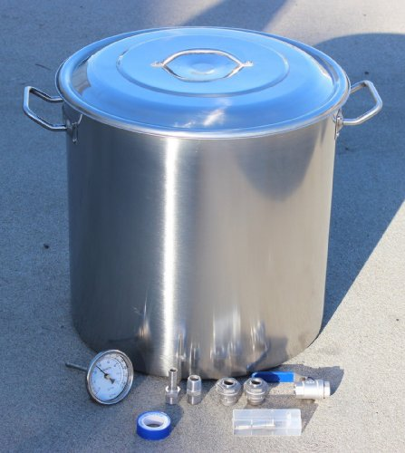 Concord Home Brew Kettle DIY Kit Stainless Steel Beer Stock Pot w/ Accessories (180 QT)