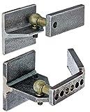 GAH-Alberts 411725 Gond régulateur de pente pour portail en métal | pour terrains en pente | ferrure : Acier brut, surface : Articulation coudée à boule