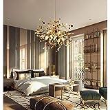 Modernas Cocina Comedor Lamparas de techo LED Lámpara Colgantes Creatividad Diseño Luz Aluminio Salón Dormitorio Interior Decor Luces 3×G9 Altura ajustable Plafones para Baño Habitación Iluminación
