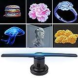 Tonysa 3D Hologramm Projektor, LED Holographic Projektor 3D Holographischer Anzeigen Fan...
