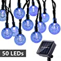Toodour 50 LED Solar Globe Lights (7 Colors Options)
