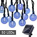 Toodour 50 LED Solar Globe Lights (7 Colors Options)