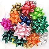 Worlds Assorted Mix Bright Confetti Bows,Gift Wrap Bows-Christmas Ribbon Gift Bows 3-3/4' Inch(20 Pack)
