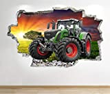 1Stop Graphics Shop Tractor Wandaufkleber 3D Optik -
