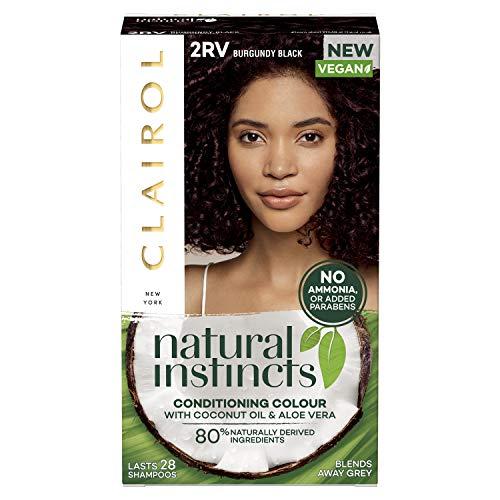 Clairol Natural Instincts Semi-Permanent No Ammoniak Vegan Hair Dye 2RV Burgundy Black, 177 ml