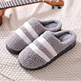 Slippers Winter Indoor Plush Warm Non-Slip Cotton Slippers for Men and Women Washable Cotton Non-Slip Home Shoes-40-41_Green