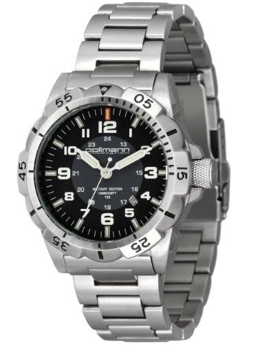 pollmann 55939–Armbanduhr Herren, Armband aus Edelstahl Farbe Silber