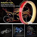Regalo de Julio Cómodo de usar cinta reflectante para automóvil, adhesivo reflectante de motocicleta de uso prolongado, Autobike Motorbike Autocycle para motocicleta(red)