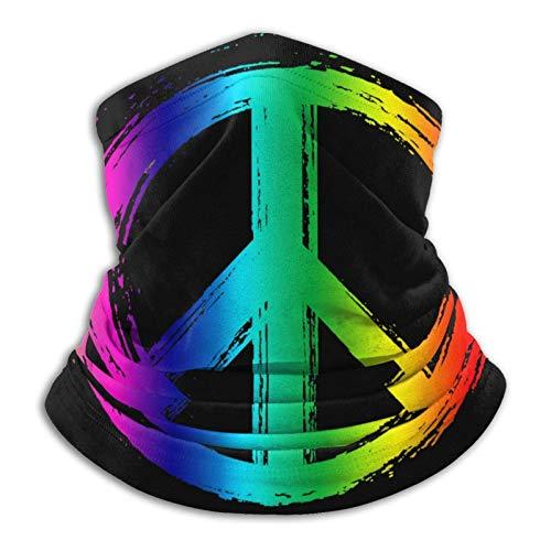 Turbante básico para la cabeza, polaina, bufanda de tubo, mitad, pasamontañas, bandana, signo de la paz, calentador de cuello suave, pasamontañas para motocicleta, ciclismo, snowboard, diademas