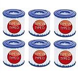 NJYBF Cartuchos de filtro para piscina, para Bestway VII & para Intex D filtro, Spa de repuesto para filtro de limpieza de piscinas inflable, reemplazo de cartuchos de filtro accesorios de filtro.