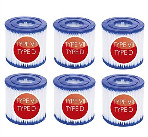 NJYBF Cartuchos de filtro para piscina, para Bestway VII & para Intex...