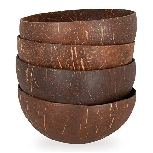 EPT-Home Kokosschale Kokos Schale Bowl Dekoschale Deko Holzschale Fair Trade (4 Stück)