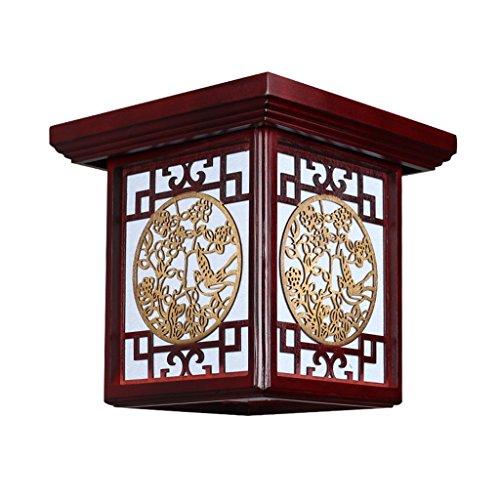 Ywyun Plafonnier de style japonais, bois moderne moderne et créatif, plafond à économie d'énergie, balcon carré hall hall hall couloir éclairage décoratif ( Color : A )