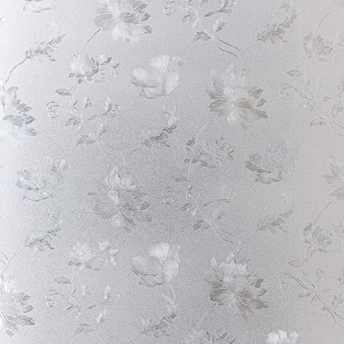 N / A Hibiskus Blumenmuster Glasfolie statische Frischhaltefolie Wärmekontrolle recycelbar heiß Fenstertür Tischdekoration Folie A12 45x200cm