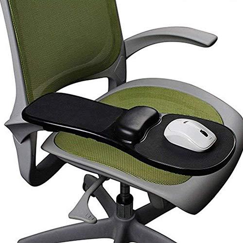 HANHAN - Reposabrazos para escritorio y silla, doble propósito para ordenador, soporte giratorio para alfombrilla de ratón, soporte de apoyo ajustable para silla de oficina/escritorio