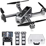 Potensic D88 FPV Drone with 4K Camera, 5G Foldable RC Quadcopter for Adults and Experts, GPS Return Home, Ultrasonic Altitude Setting, Optical Flow Positioning, 2 Battery 40min-Upgrade