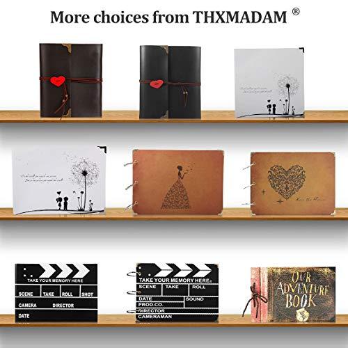 ThxMadam Fotoalbum zum Selbstgestalten,Scrapbook Album zum einkleben,Foto Buch,Vintage Gästebuch Geschenk für Weihnachten Hochzeit Jahrestag Valentinstag Geburtstag Muttertag - 9