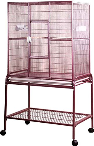 A&E Cage Company 001035 Flight Burgundy Bird Cage with Stand, 32 x 21 x 63