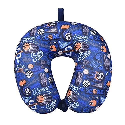 nobranded 1 pieza en forma de U almohada de nanopartícula de apoyo de la cabeza almohada de salud de avión de vuelo de espuma de partículas almohada de la decoración de viaje almohada