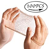 Smilco 100PCS Hair Nets Invisible Elastic Edge Mesh 20 Inches 50cm (Pack of 100PCS, Bulk Packing, Brown)