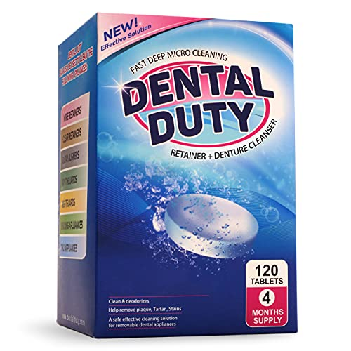 120 Retainer and Denture Cleaning Tablets (4 Months Supply)...
