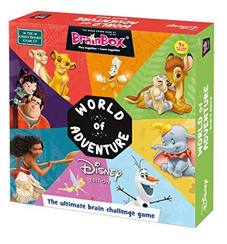 Brainbox Games GRE91033 BrainBox: World of Adventure Brettspiel Disney Edition