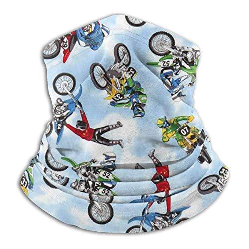 VVGETE Gesichtsmaske mit Schlauch, für Motocross, Dirt Bike, Sport, Offen, Sturmhaube, Haarband für Haare, magischer Halswärmer