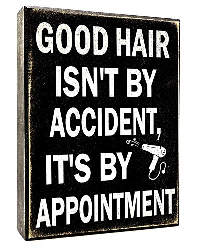 JennyGems Good Hair Isnt by Accident Its by Appointment - Hair Dresser Decor Sign - Hair Stylist Gift - Hair Salon Decor - Hairapist - Barber Shop Decor Gift for Hair Dresser
