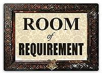 2個 金属サイン要件の部屋警告サイン|屋内/屋外| 8 x12インチのブリキサインヴィンテージルック