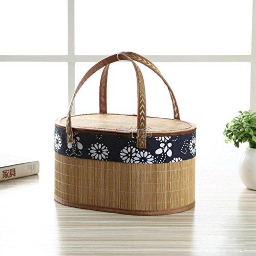 moxin Panier d'achat - Tissu Bamboo Gift Box Home Outdoor play, a, high-grade blue and white