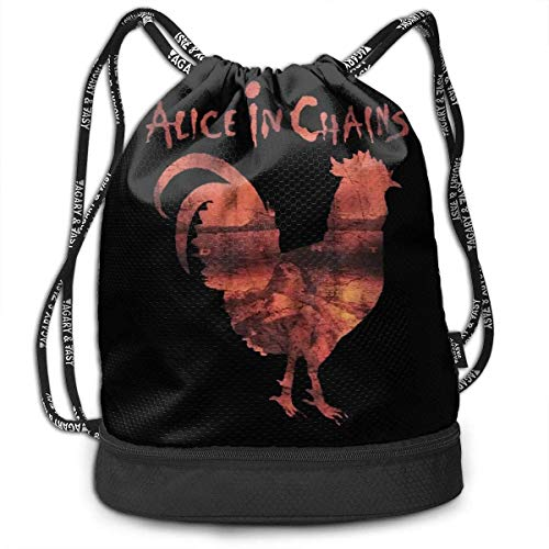 Mochila con cordón Men and Women General Travel Backpack Alice In Chains Rooster Light Unique Design Backpack Bag