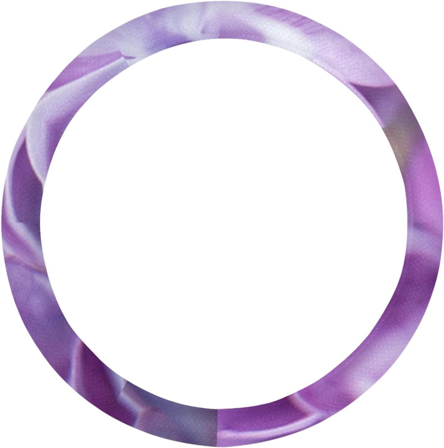 AIKENING Steering Wheel Covers Max 49% OFF for Purple Flo Lilac Violet Women Philadelphia Mall