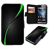 sw-mobile-shop Book Style Huawei Ascend Y635 Premium PU-Leder Tasche Flip Brieftasche Handy Hülle mit Kartenfächer für Huawei Ascend Y635 - Design Flip SB287
