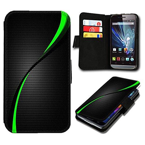 sw-mobile-shop Book Style ZTE Blade L3 Premium PU-Leder Tasche Flip Brieftasche Handy Hülle mit Kartenfächer für ZTE Blade L3 - Design Flip SB287