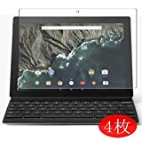 【4 Pack】 Synvy Screen Protector for Google Pixel C 10.2' TPU Flexible HD Clear Case-Friendly Film Protective Protectors [Not Tempered Glass] New Version
