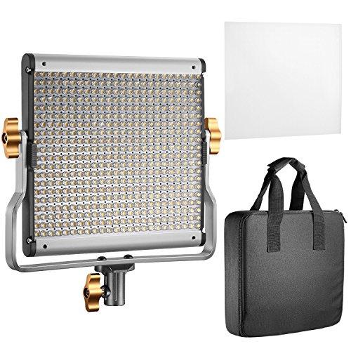 Neewer 480 LED Panneau Lumière Vidéo LED Lumière Studio Lampe LED Vidéo Eclairage LED pour Photo Studio Vidéo, 3200-5600K CRI 96+ Bi-Couleur Intensité Réglable avec Montage U