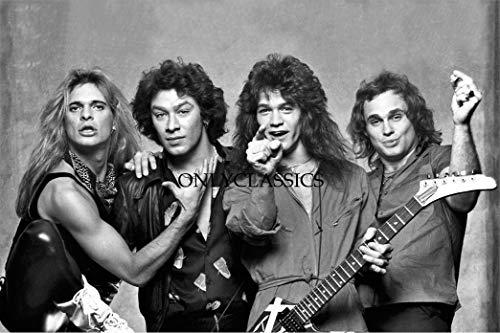 OnlyClassics Van Halen Rock Band 12X18 Photo Poster David LEE ROTH, Alex Eddie Michel Anthony