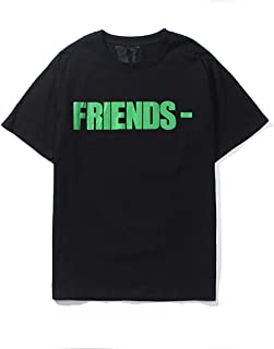 Men T-Shirt Big V Print Cotton Hip-Hop Summer Tee