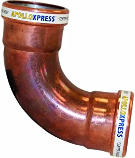 Apollo Valves 10062067 3-Inch C x C Copper 90-Degree Long Turn Elbow