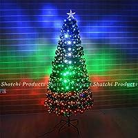 Gifts 4 All Occasions Limited SHATCHI-500 - Árbol de Navidad (fibra óptica LED, 90 cm, varios efectos de decoración), color verde , color/modelo surtido