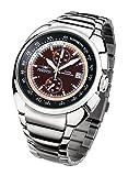 FIREFOX Aviator FFS70-106 braun/beige Chronograph Herrenuhr Armbanduhr massiv Edelstahl Sicherheitsfaltschließe 10 ATM Water Resistant