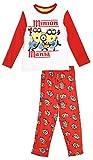 MINIONS - Pijama largo para nio Mania' 2 colores de 3 a 8 aos blanco/rojo 3 aos