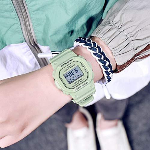 Lvmiao Relojes electrónicos de Moda, Deportes Unicornio Relojes para niños Simples, Masculinos y Femeninos Estudiantes de Secundaria,6