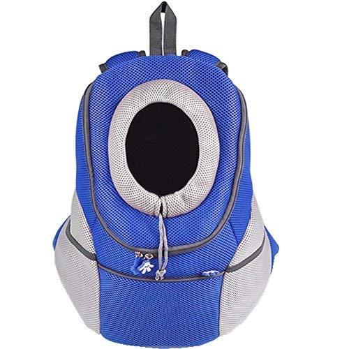 Ducomi Pets Courmayeur - Mochila para el Transporte de Perros y Cachorros en Tejido Elástico y Transpirable de Malla (XL, Azul)