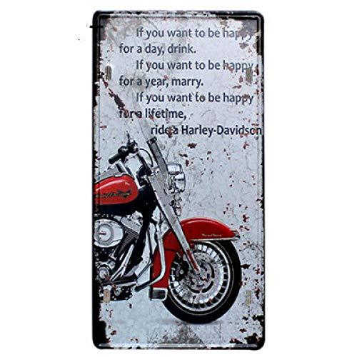 ivAZW Metal Poster Tin Sign Plaque Nostalgic-Art Bus Motorcycle Car Metal License Plate Vintage Home Decor Bar Pub Garage Mpa2078