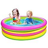 Joyjoz Kinder Planschbecken 1.5M Aufblasbare Pool Kinder Schwimmbad Kinderpool Babypool Swimmingpool für Familien, Garten